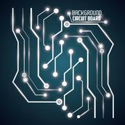Circuit board design. technology and electronic concept - stock illustration