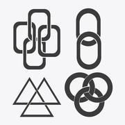 Link symbol design. flat illustration. connection concept Stock Illustration