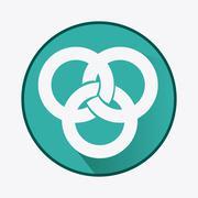 link symbol design. flat illustration. connection concept - stock illustration