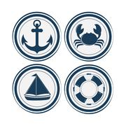 Sea life design, nautical and marine concept, vector illustration - stock illustration