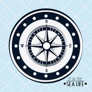 Sea life design, nautical and marine concept, vector illustration - stock illustration