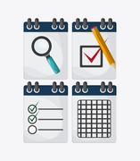 Checklist design, flat illustration , vector illustration - stock illustration