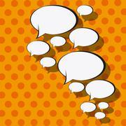 pop art communication bubble, vector illustration - stock illustration