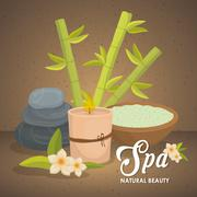 Candle and stone icon. Spa center design. Vector graphic Stock Illustration