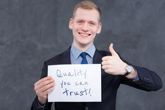 Contagious enthusiasm of a young sales representative - stock photo