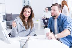 Consultation ideas with commitment - stock photo
