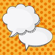 Colors Message bubble speech, editable vector Stock Illustration