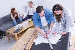 Fruitful cooperation over success - stock photo