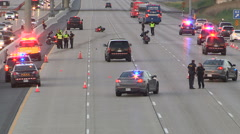 Deadly fatal motorcycle accident scene on highway 407 in Vaughan - stock footage