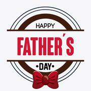 Icon of Fathers day design, vector illustration - stock illustration