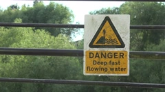 Deep water danger sign concept Stock Footage