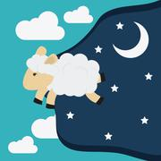Rest and sheep icon design, vector illustration - stock illustration