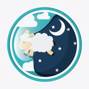 Rest and sheep icon design, vector illustration Stock Illustration