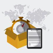 Delivery and chronometer design , vector illustration Stock Illustration