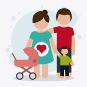 Pregnancy mother design, vector illustration Piirros