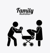 Family icon design, vector illustration - stock illustration