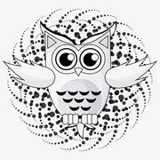 Owl icon design, vector illustration Stock Illustration