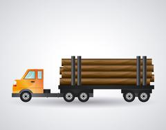 Truck icon design - stock illustration