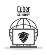 Cyber Security design - stock illustration