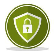 Cyber Security design - stock illustration