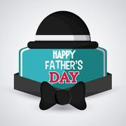 Happy Fathers day design - stock illustration