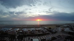 Sunrise at the sea - Riccione Village Stock Footage