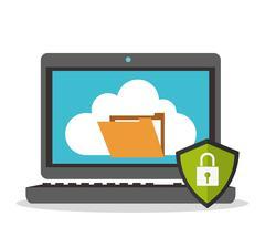 Security system design - stock illustration