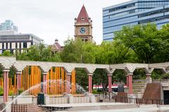 Olympic Plaza in Downtown Calgary Stock Photos