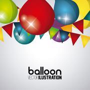 Celebration icon design - stock illustration