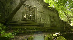 Beng melea temple Unesco world heritage site dolly Stock Footage
