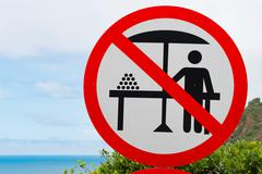 No hawkers desirable Verbotsschild no hawkers, Garden Route - stock photo