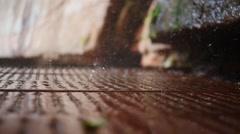 Slow motion rain  raindrop - stock footage