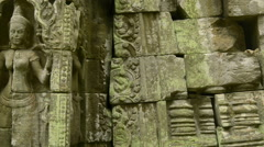 Khmer temple Unesco world heritage site dolly Stock Footage
