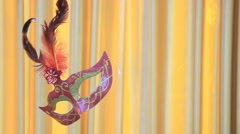 Classical mask  floating on stage of life,HD vdo. Stock Footage