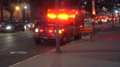 Los Angeles Emergency Vehicle  - stock footage