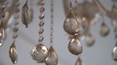 Background of chrystal decorated chandelier Stock Footage