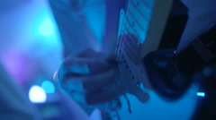 Guitars in live action at a concert - stock footage