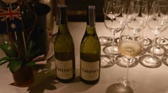 Closeup of white australian wine Stock Footage