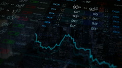 Stock market, stock exchange. Stock markets collage. Stock Footage
