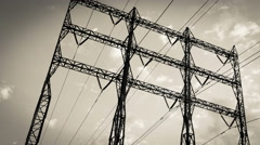 Hydro tower or electrical tower Stock Footage