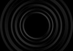 Abstract black technology rings design - stock illustration