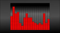 Raster image displays the frequency of the sound equalizer Stock Illustration