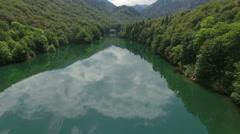 Biograd lake and green lush woods. Bjelasica mountain, Kolasin, Montenegro Stock Footage