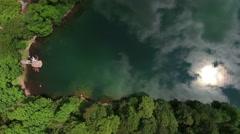 National park, glacial Biograd lake in Bjelasica mountains, Kolasin, Montenegro Stock Footage
