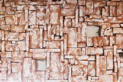 Brick wall design of interior wallpaper Stock Photos