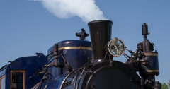Old Steam Locomotive 4K Stock Footage