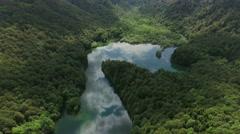 Beauty valley with Biograd lake. Bjelasica mountains, Kolasin, Montenegro Stock Footage