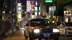 Crowded street nightlife in Hong Kong most active city of the world. - stock footage