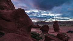 Goblin Valley Time-lapse 4k - stock footage