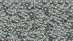 Packs of One Hundred Dollars  as  Background Stock Illustration